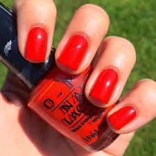 nails always polished opi race red