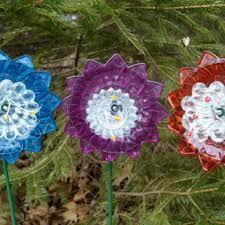 Country Garden Decor Iridescent Flower Garden Art Garden From Niftybitsgallery On