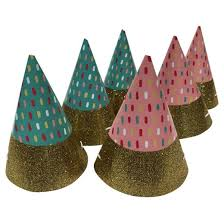 party hats 6ct pink blue mini party hats spritz target