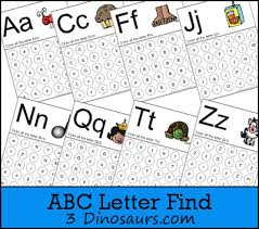 printable alphabet recognition games free abc letter find printable 3 dinosaurs