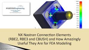 nx nastran connection elements rbe2 rbe3 and cbush and how