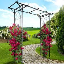 jago garden climbing plants u0026 roses steel arch 151 204 51 cm