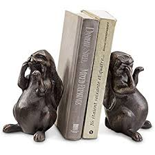 bunny bookends spi rabbit pushing books bookend pair home kitchen