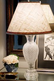 accessories stunning crystal clear shade in bronze table lamp for