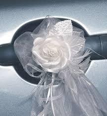 noeud de voiture mariage cocardes portières voiture mariage tulle décoration voiture mariage