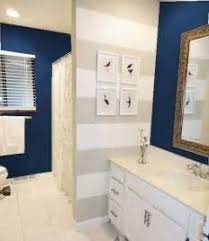 navy bathroom decorating ideas with blue walls and vanities navy
