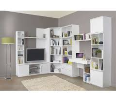 furniture white bookshelves wall unit with doors in stylish