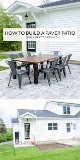 How To Lay Patio Pavers On Dirt by How To Build A Diy Paver Patio Simply Kierste Design Co