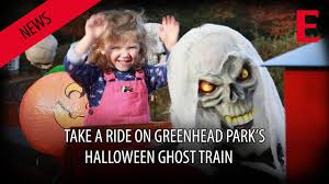 watch take a ride on the halloween ghost train in greenhead park