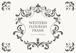 free vector western flourish frame free vector