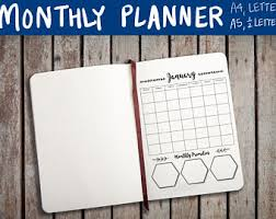 bullet journal printable planner a5 a4 letter u0026 half page