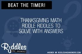 30 thanksgiving math riddles with answers to solve puzzles