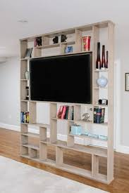 hand crafted lexington room divider bookshelf tv stand by corl
