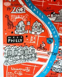 map of philly brainstorm x ozs philadelphia map omoi zakka shop