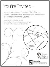 Invitation Card For New Home Muskoka Watershed Council Get New Home Muskoka Watershed Council