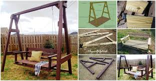 exciting outdoor diy brilliant swinging benches for summertime