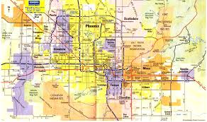 Zip Code Map Colorado by Map Of Metro Phoenix And The Valley Of The Sun
