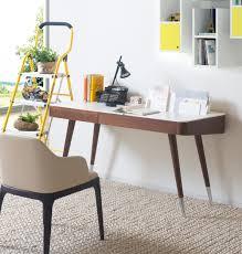 calla modern office desk calla writing desk brown oak calla