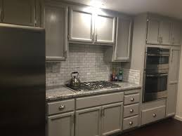 Titusville Cabinets Monte Cristo Granite Marble Backsplash Tiles And Grey Cabinets