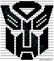 Copy And Paste Meme Faces - transformers autobot symbol copy paste ascii art cool ascii text