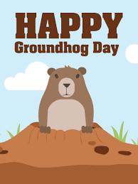 happy groundhog card birthday u0026 greeting cards davia