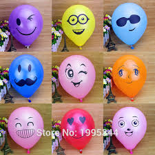balloon o grams 100pcs 10 inch1 9 grams of smiling children s toys shaped balloons