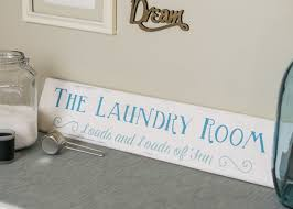 Vintage Laundry Room - silhouette challenge painted distressed laundry room sign