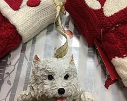 westie ornament etsy