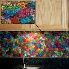 Stained Glass Backsplash by Mosaic Artist U2013 Ellen Blakeley U2013 Tempered Glass Mosaic Mural U2013 San