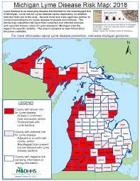 Owosso Mi Map Michigan U0027s Five Most Common Ticks