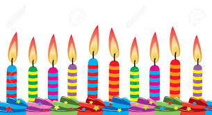 birthday candles row of birthday candles on cake royalty free cliparts vectors