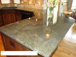 Kitchen Island Granite Countertop Granite Countertop Professionally Painting Kitchen Cabinets