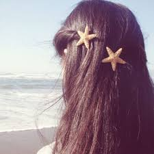 starfish hair clip faux starfish hair clip starfish from dreamsbythesea on etsy