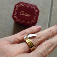 engagement rings size 8 cartier beautiful cartier gold ring size 8 with box from nancy s