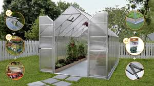Palram Polycarbonate Greenhouse Palram Essence 8x12 Silver Greenhouse Premium Pack Youtube