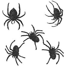 Halloween Cut Outs Glitter Spider Halloween Cutouts Non Stop Party Shop