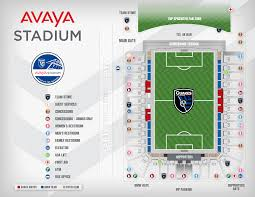 Chicago Parking Zone Map by Avaya Stadium Map San Jose Earthquakes