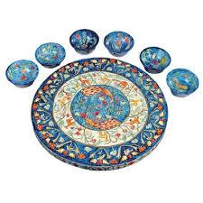 sedar plates peacock painted seder plate concepts of