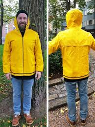Yellow Raincoat Girl Meme - retro finnish fashion this season s must have item is a yellow