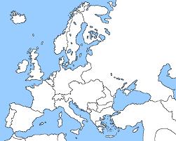 Map Of European Countries Blank Map Of Europe 2016 Calendar