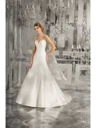mori wedding dresses 8181 meranda keyhole back satin wedding dress