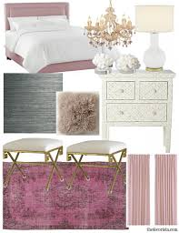 Pink Gold And White Bedroom Get The Look Romantic Modern Bedroom U2014 The Decorista