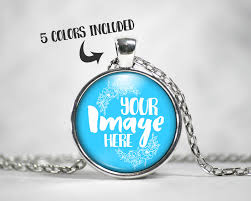 round pendants necklace images Round pendant mockup template jewelry photography necklace jpg