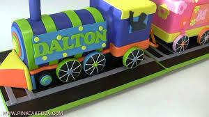 birthday train cake youtube