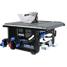 delta table saw for sale delta 15 amp 10 in left tilt portable jobsite table saw 36 6010