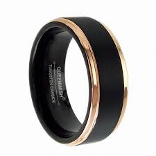 wedding rings men queenwish queenwish tungsten wedding ring men women black