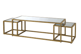 modern nest of tables uk gold nesting tables gold italian nesting tables set of 3 worlds