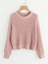 pullover sweater texture knit pullover sweater shein sheinside