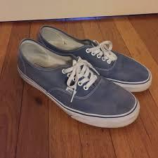 light blue vans mens vans other light blue w white laces and soles mens 115 poshmark