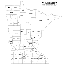 mn counties map minnesota county map jigsaw genealogy
